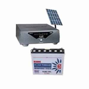 Microtek Solar Home UPS 850VA With 150AH Solar Battery (150W *2) Poly Crystalline Solar Panel